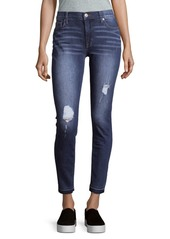 Hudson Jeans Mid-Rise Distressed Ankle Jeans