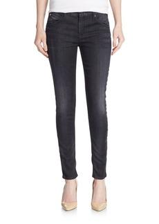 Hudson Mid-Rise Skinny Flap-Pocket Jeans