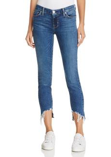 Hudson Mid-Rise Skinny Jeans in Split Second