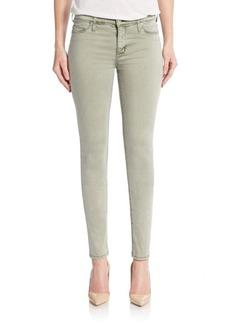 Hudson Mid-Rise Super-Skinny Jeans