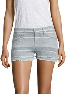 Hudson Jeans Midori Double Striped Layer Shorts