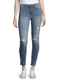 Hudson Midrise Cropped Skinny Jeans