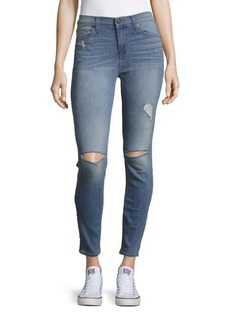 Hudson Jeans Hudson Midrise Cropped Skinny Jeans