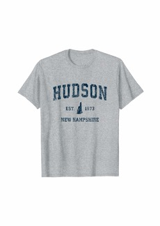 Hudson Jeans Hudson New Hampshire NH Vintage Sports Design Navy Print T-Shirt