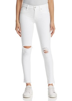 Hudson Nico Ankle Skinny Jeans in Optical White Destructed