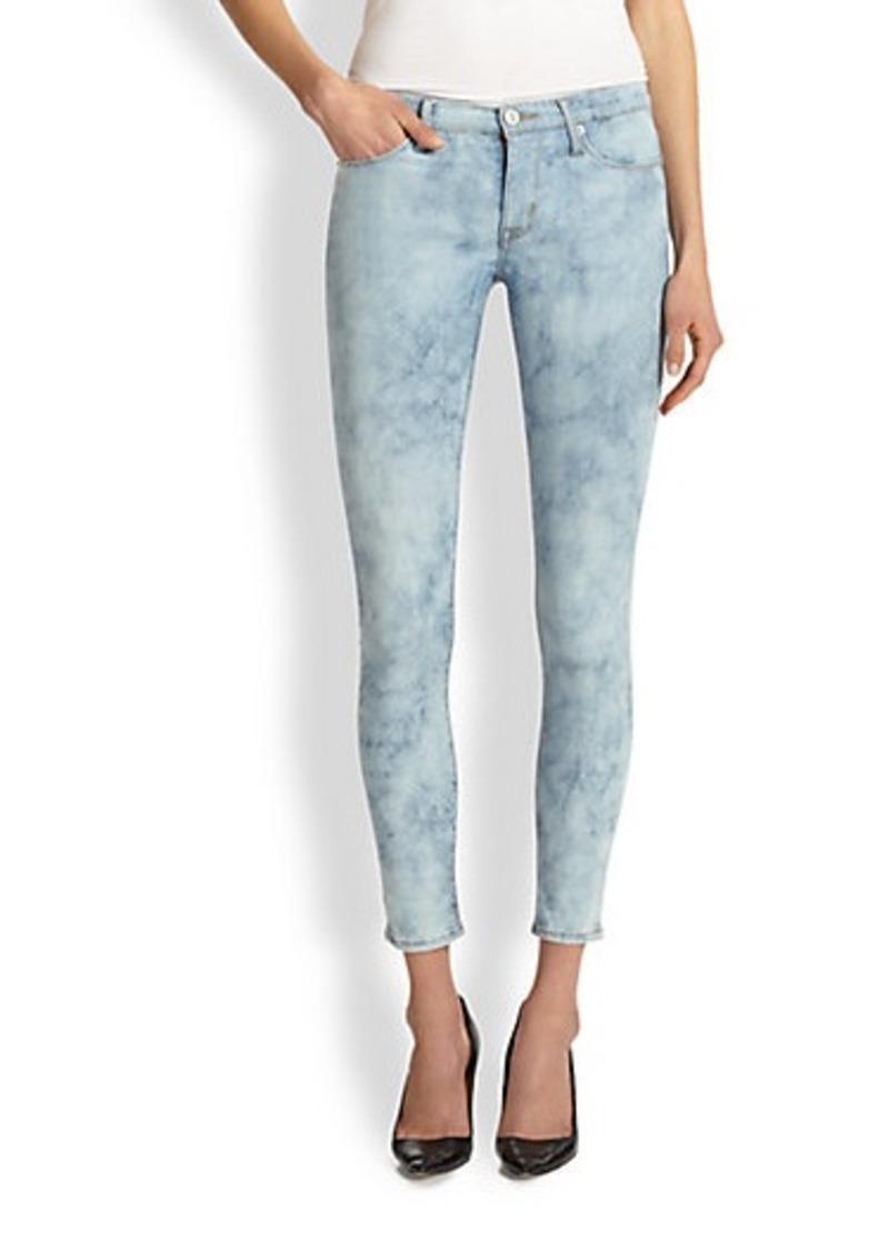 Hudson Jeans Hudson Nico Bleached Python-Print Skinny Jeans