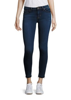 Hudson Nico Cropped Raw-Edge Super Skinny Jeans