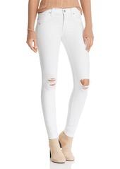 Hudson Jeans Hudson Nico Destructed Ankle Skinny Jeans in White Rapids