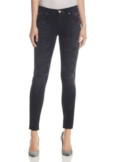 Hudson Nico Destructed Skinny Jeans in Hijacked