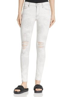 Hudson Nico Destructed Skinny Jeans in Powdered Stratus