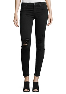 Hudson Nico Distressed Mid-Rise Skinny Jeans