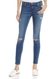 Hudson Nico Distressed Skinny Jeans in Umbrage - 100% Exclusive