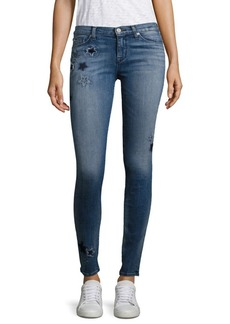 Hudson Nico Embroidered Star Skinny Jeans