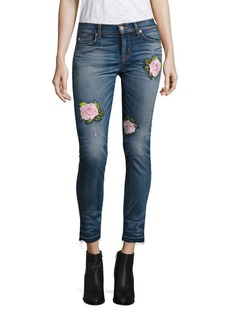 Hudson Nico Embroidered Super Skinny Ankle Jeans