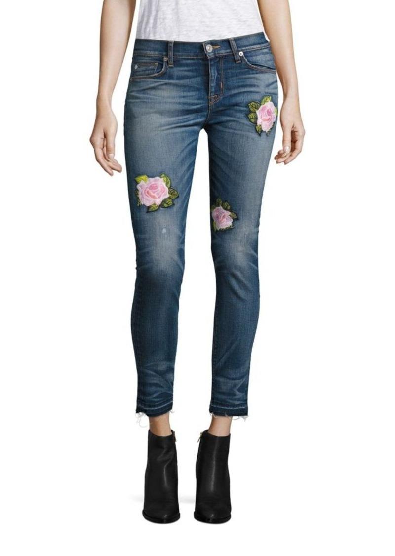 Hudson Jeans Hudson Nico Embroidered Super Skinny Ankle Jeans