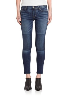 Hudson Nico Faux Patch Skinny Jeans