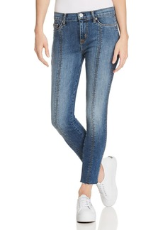 Hudson Nico Lace-Up Skinny Jeans in Unfamed