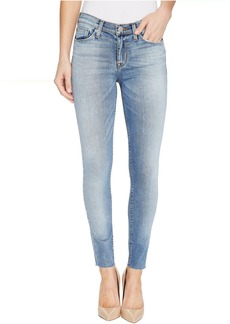 Hudson Nico Mid-Rise Ankle Raw Hem Super Skinny Five-Pocket Jeans in Ambitions