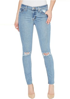 Hudson Nico Mid-Rise Ankle Raw Hem Super Skinny Five-Pocket Jeans in Hooligan