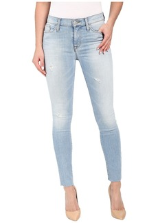 Hudson Nico Mid-Rise Ankle Raw Hem Super Skinny in Hatchback