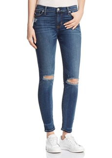 Hudson Nico Mid Rise Ankle Super Skinny Jeans in Confession