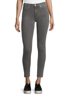 Hudson Nico Mid-Rise Ankle Super Skinny Jeans w/ Raw Hem