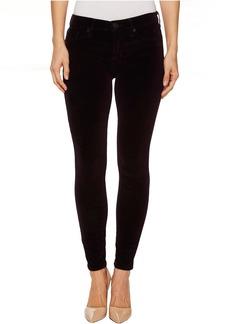 Hudson Nico Mid-Rise Ankle Super Skinny Velvet Jeans in Violet Trance