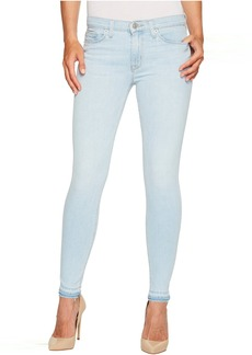 Hudson Nico Mid-Rise Ankle Super Skinny w/ Released Hem Five-Pocket Jeans in Bliss