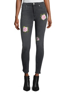 Hudson Nico Mid-Rise Distressed Skinny Ankle Jeans