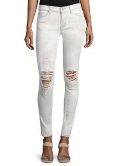 Hudson Nico Mid-Rise Distressed Super Skinny Jeans