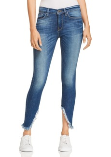 Hudson Jeans Hudson Nico Mid Rise Frayed Ankle Jeans in Blue Monday