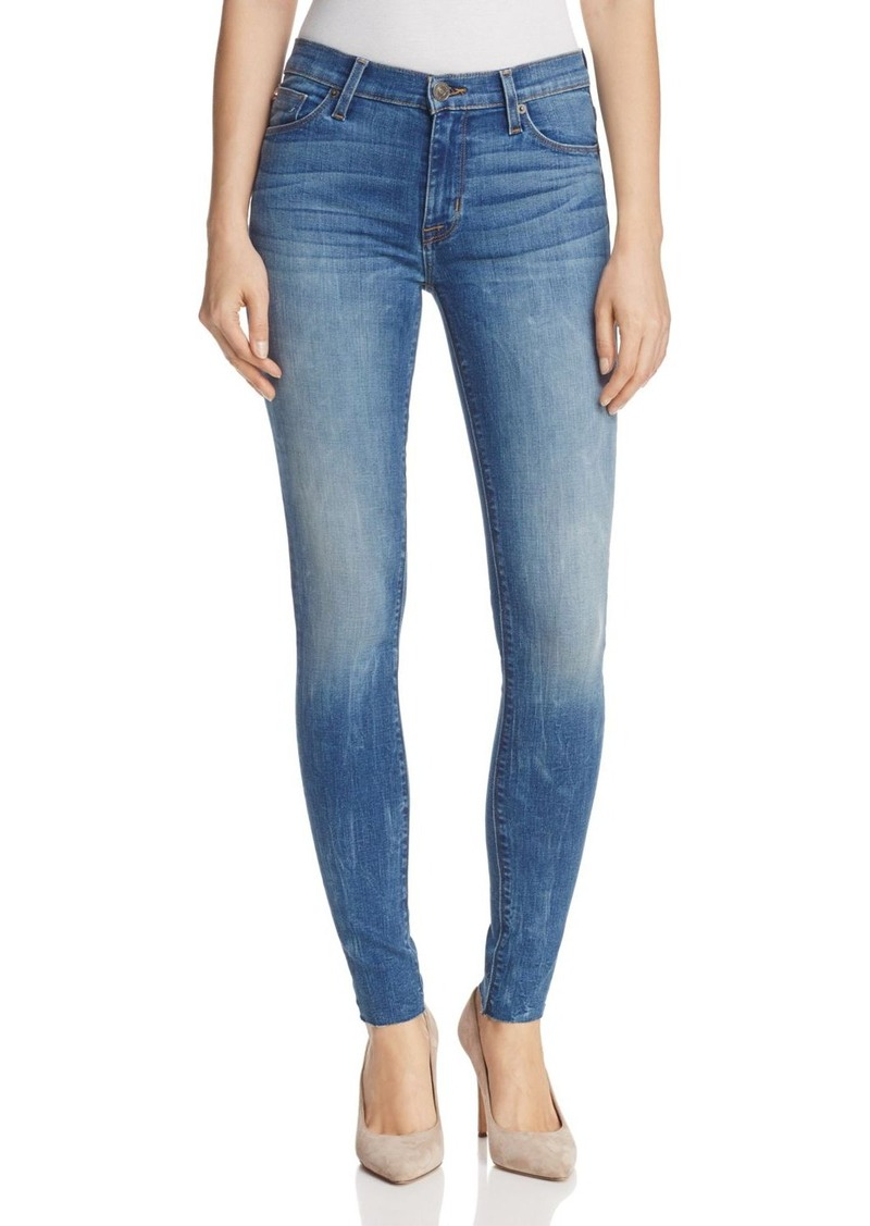 67936aa95a6 Hudson Jeans Hudson Nico Mid Rise Raw Hem Skinny Jeans in Billow - 100%  Exclusive