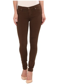 Hudson Nico Mid Rise Skinny Jeans in Incognito Green