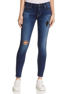 Hudson Nico Mid Rise Super Skinny Destructed Jeans in Tipping Point