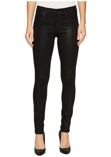 Hudson Jeans Nico Mid-Rise Super Skinny in Noir Coated