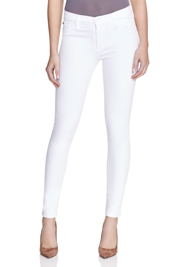 Hudson Jeans Hudson Nico Mid-Rise Super-Skinny Ankle Jeans in White