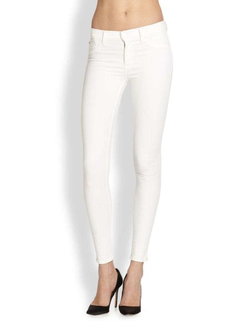 Hudson Jeans Hudson Nico Mid-Rise Super Skinny Jeans/White