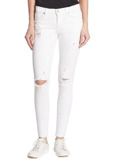 Hudson Nico Mid-Rise Super Skinny Strife Jeans
