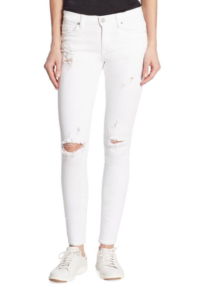 Hudson Jeans Hudson Nico Mid-Rise Super Skinny Strife Jeans