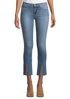 Hudson Jeans Hudson Nico M.R Straight-Leg Ankle Jeans w/ Front Slit