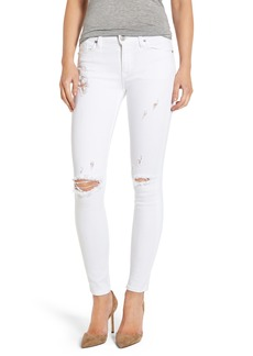 Hudson Jeans Hudson Nico Ripped Ankle Super Skinny Jeans (Strife)
