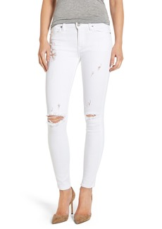 Hudson Nico Ripped Ankle Super Skinny Jeans (Strife)
