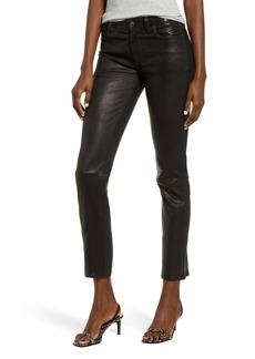 Hudson Jeans Hudson Nico Straight Leg Ankle Leather Pants