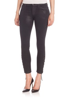 Hudson Nix Crop Jeans With Laceup Ankle