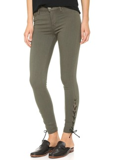 Hudson Nix Lace Hem Crop Jeans