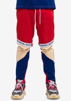 Hudson Jeans Hudson Nyc Men's Logo Tape Colorblock Track Pants