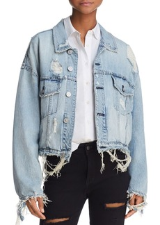 Hudson Jeans Hudson Oversize Distressed Denim Jacket in High and Dry
