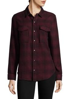 Hudson Jeans Hudson Pant Kari Plaid Button-Front Shirt