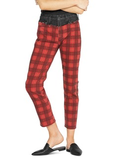 Hudson Jeans Hudson Plaid Two Tone Bettie Jeans in Critical