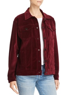 Hudson Jeans Hudson Port Velour Trucker Jacket